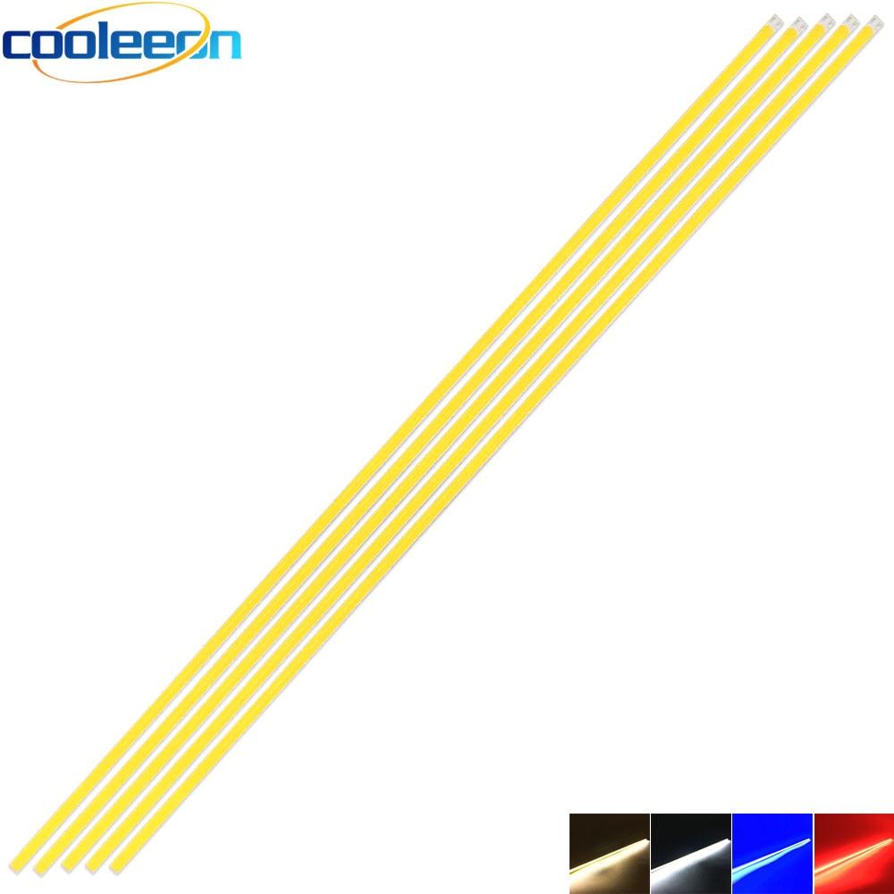 5 uds 60CM 12V COB LED tira de lámpara 20W blanco cálido Azul Rojo Color regulable Barra de luz LED 600MM para iluminación decoración bombilla DIY