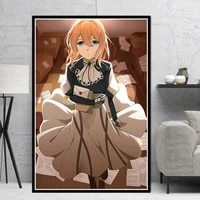 canvas painting printed home decor wall art violet evergarden japan anime modular pictures nordic style poster for children room