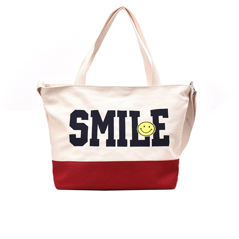 Hot Women Shopping Bag Ladies One Shoulder Bag New 2019 Totes Eco Shopping Bag Daily Use Foldable Canvas Bag Canvas Women Female