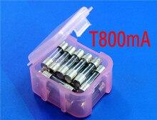 Fusible lent pour Tube en verre   T800mA 250V 5x20mm, approuvé UL VDE RoHS, 800mA, 0,8a, 0,8 amp