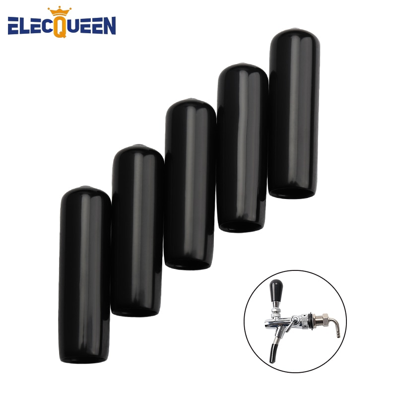 5pcs/lot  Black Faucet Cap Soft Plastic Spouts Beer Tap Cover For keeping  liquid clean