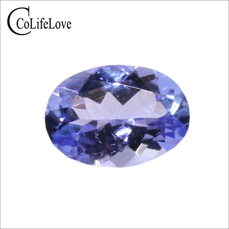 0.7 ct natural tanzanite loose gemstone for ring or pendant 5mm*7mm VS grade oval cut tanzanite loose stone