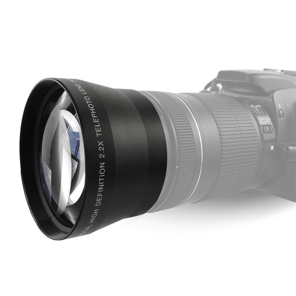Lente de ensanchamiento de teleobjetivo profesional HD 67MM 2.2X para lente de cámara SLR Digital 67MM Teleconverter espejo de conversión telefoto