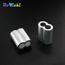 100 unids/pack 3mm manguitos de aluminio para cables accesorios de Clip de cuerda manga de bucle