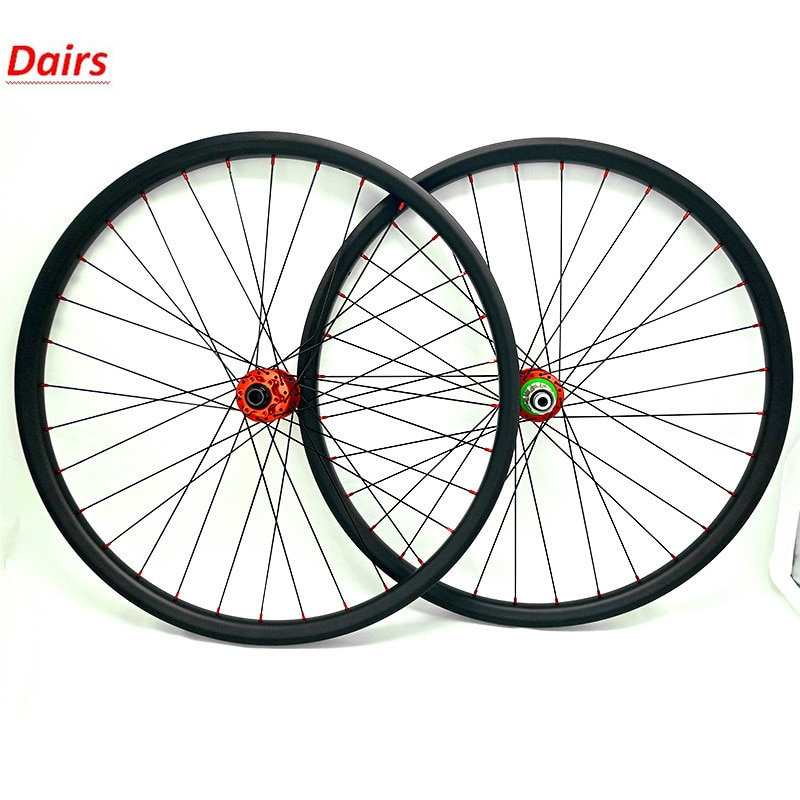 Roues vtt carbone 1580g 29er HOPE pro4 142*12mm/100*15mm roues vtt 35x25mm roues vtt vélo 1420 rayons vtt