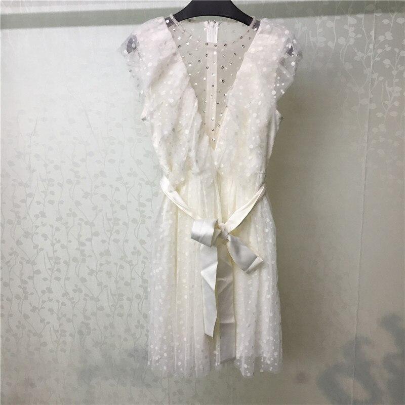 Lace Dress for Women Sweet Short Sleeve O-neck High Quality Elegant Lady Dress 2019 new Women Dress