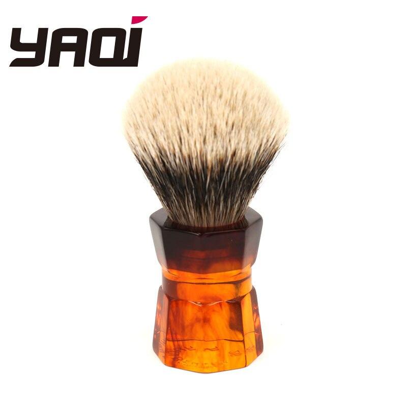 Мужская щетка для бритья бороды Yaqi, 26 мм, Moka Express, Два ремешка, барсук, волосы