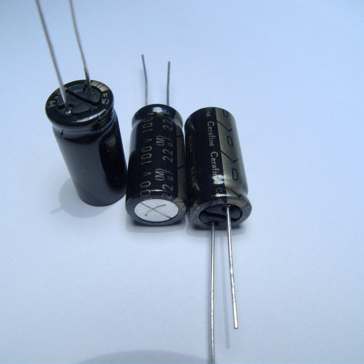 10pcs/20pcs New ELNA Cerafine audio capacitor 100v22uf copper audio super capacitor electrolytic capacitors free shipping 5pcs 10pcs elna silmcii 16v2200uf 18 40 copper capacitor audio super capacitor electrolytic capacitors free shipping
