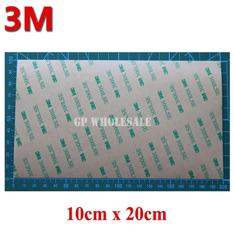 6x (100mm * 200mm) adhesivo superfuerte de dos lados adhesivo para iphone ipad Marco de pantalla táctil LCD 3M 9495LE 300LSE