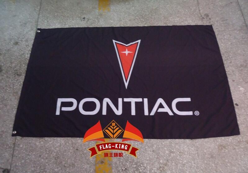 Bandera pontiac, poliéster 3x 5ft,