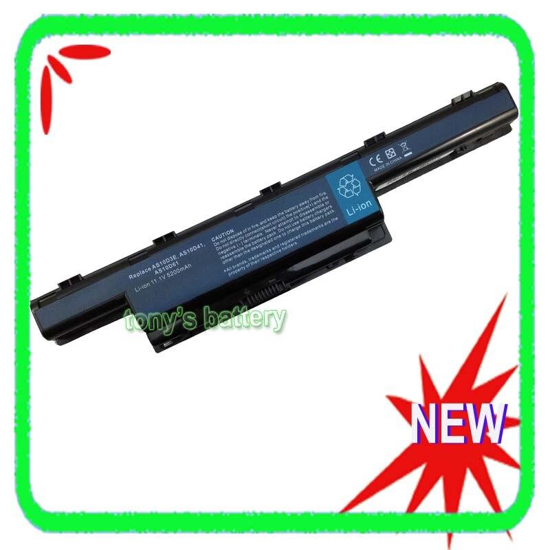 Аккумулятор 5200 мАч для Пакард Белл EasyNote TM01 TM80 TM81 TM82 TM83 TM85 TM86 TM87 TM89 TM94 TM98 AS10D31