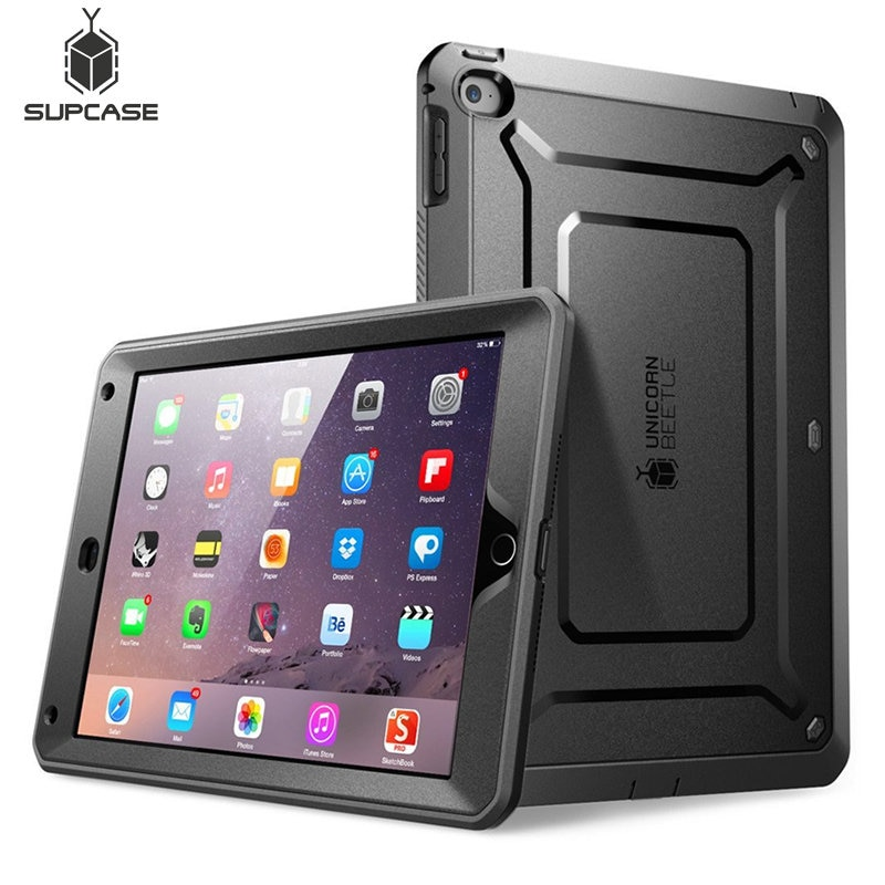 Para iPad Mini/Mini 2 3 funda SUPCASE UB Pro cuerpo completo rugoso doble capa híbrida cubierta protectora con Protector de pantalla incorporado