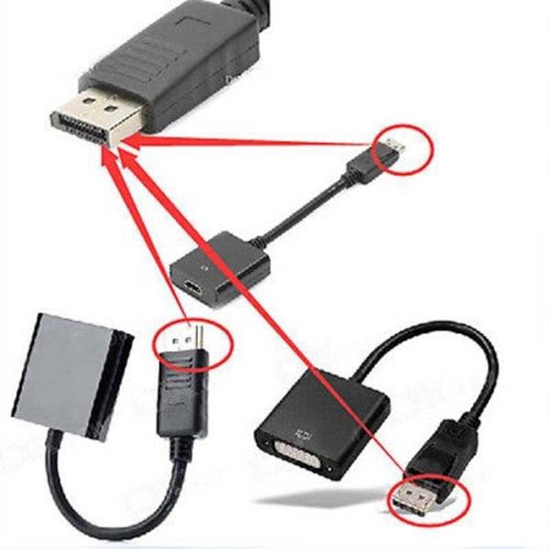 مجموعة 10 قطعة ديسبلايبورت عرض ميناء DP ذكر إلى VGA DVI HDMI أنثى محول كابل محول للكمبيوتر HDTV العارض شاشة العرض