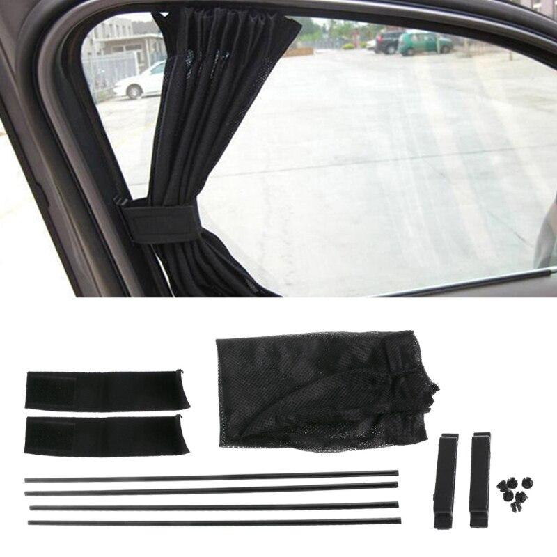 Nueva malla negra Universal Interlock VIP cortina de la ventana del coche parasol Visor UV Block