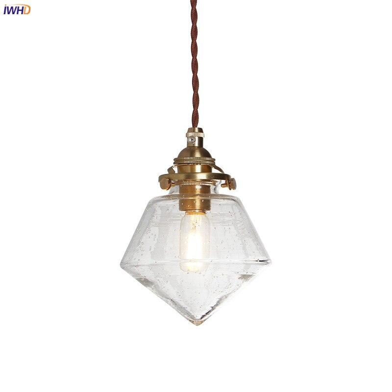 IWHD-مصباح معلق LED نحاسي عتيق ، تصميم شمالي حديث ، إضاءة زخرفية داخلية ، مثالي لغرفة الطعام أو غرفة المعيشة