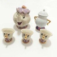 Cartoon Beauty And The Beast Teapot Mug Mrs Potts Chip Tea Pot Cup Sugar Bowl Cogsworth Coffee Pot Lovely Xmas Gift Fast Post