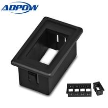 ADPOW, interruptor basculante para coche, Clip de Panel, soporte de patrulla, carcasa para caja de interruptor de coche Carling ARB
