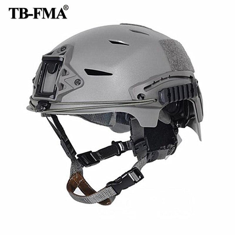 2018 nuevos cascos tácticos de reacción rápida EXFLL Bump Color negro para Paintball Airsoft y motocicleta de Ciclismo de caza