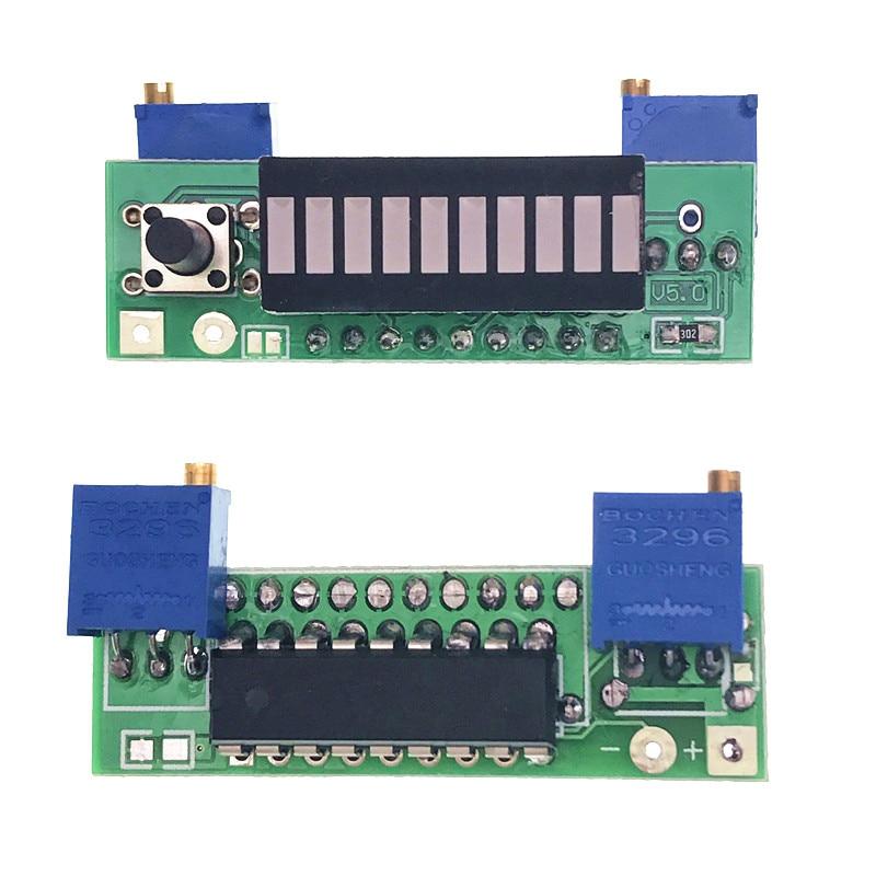 Diy Kits LM3914 10 Segment 5V 12V Battery Capacity Power Level red LED Indicator Display