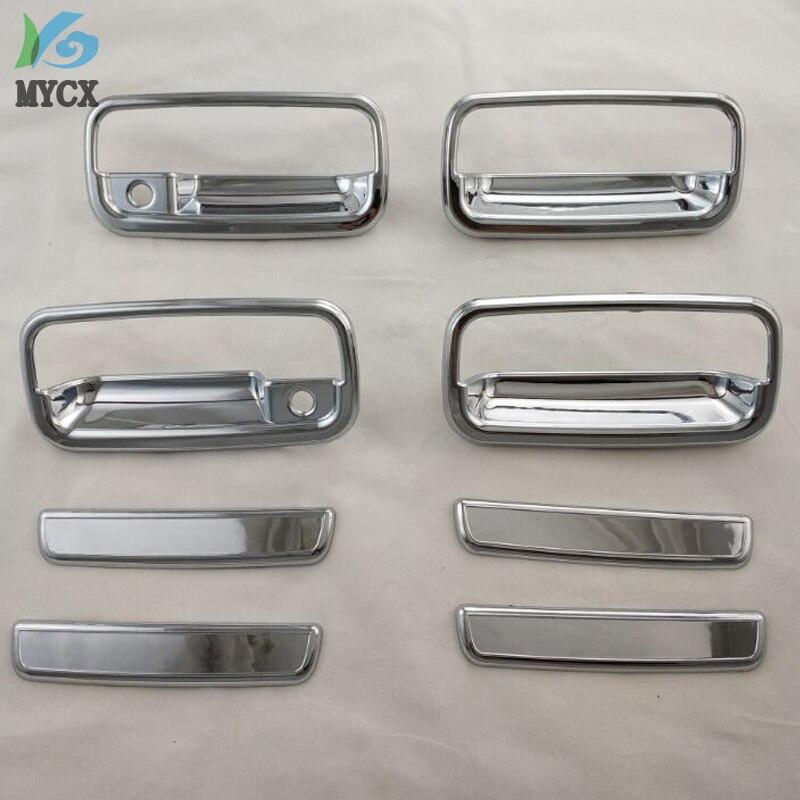 Chrome door handle insert For Toyota Land cruiser Prado FJ90 SUV ABS Car Styling accessories side door handle bowl