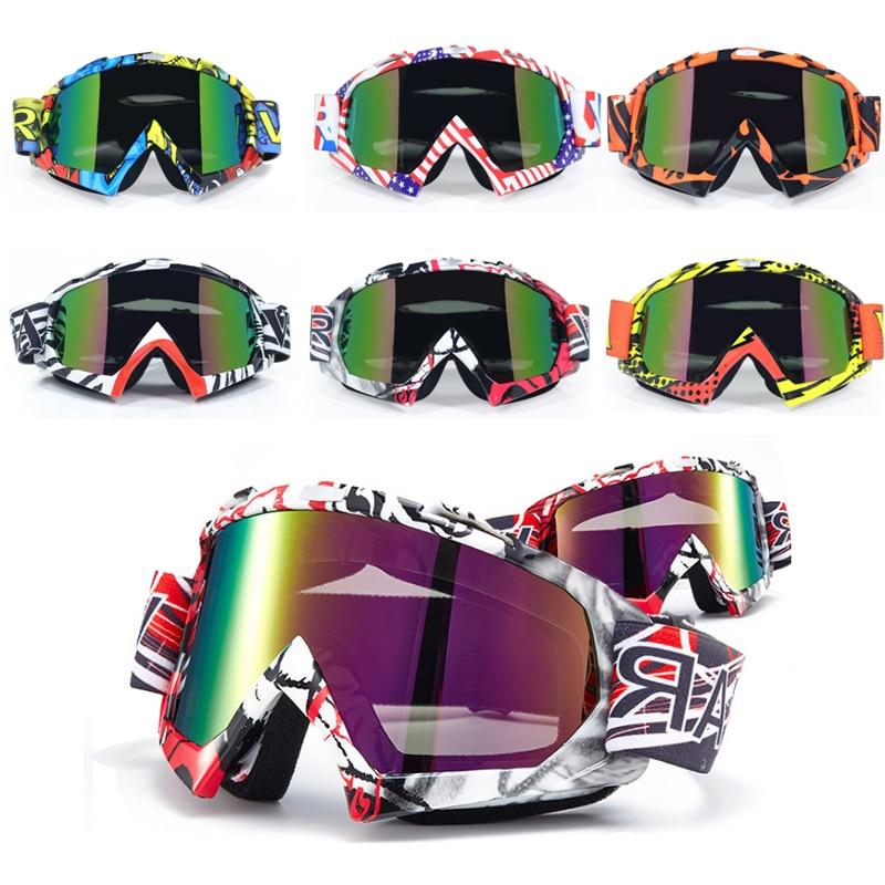 Adult Motocross Goggles Motorcycle googles ATV Eyewear Colored Lens Black Frame ski helmet googles off-road