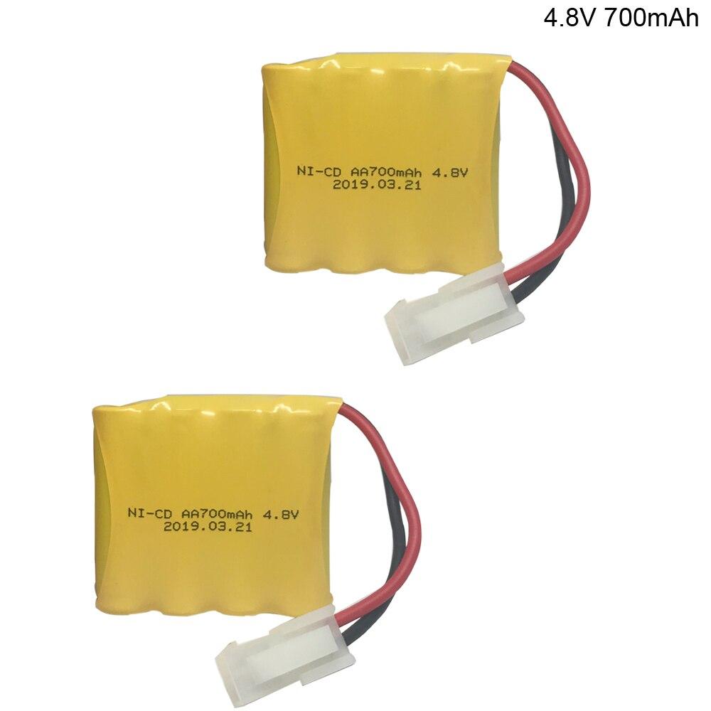 2PCS/lot 4,8 V 700mAh AA Ni-Cd batterie für Huanqi RC Tank 508 550 RC auto HQ 611 605 upgrade 700mah NICD batterie für HQ modell 508