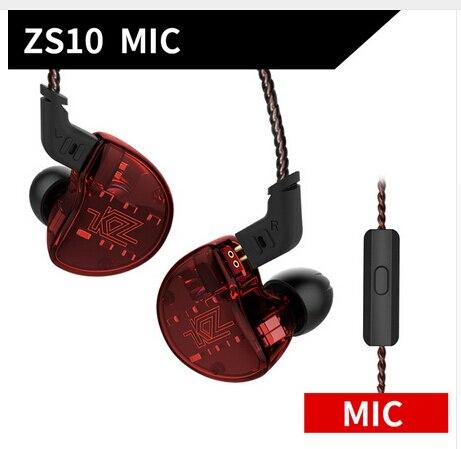 Original KZ ZS10 4BA con 1 auriculares dinámicos híbridos en la oreja auriculares HIFI DJ Running Sport 5 Unidad de unidad de auriculares para Xiaomi