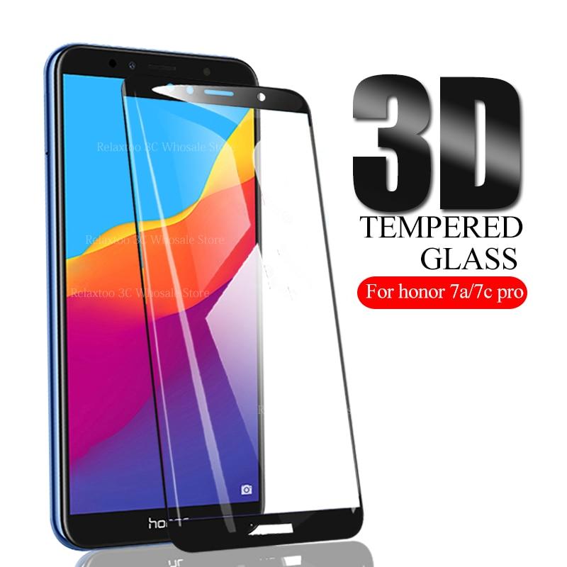 3D schutz glas Für huawei honor 7a 7c sicherheit display-schutz auf honor 7c 7a pro gehärtetem glas 7apro 7cpro 7 eine c Film abdeckung