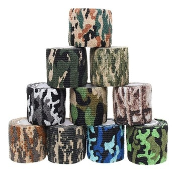 12 Rolls Camouflage Sports Elastoplast Self Adhesive Bandage Muscle Tape Self Adherent Cohesive Wrap Bandages 2 Inches X 5 Yards