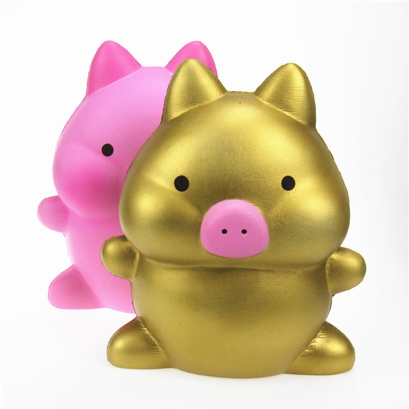 2019 new decompression toy oversized cartoon pig PU simulation fruit animal model slow rebound toy Squishy factory wholesale