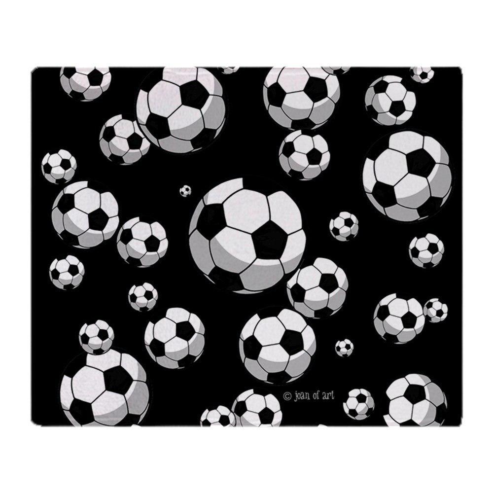 Manta de lana suave para fútbol, manta de lana muy cálidas, suave para sofá/cama