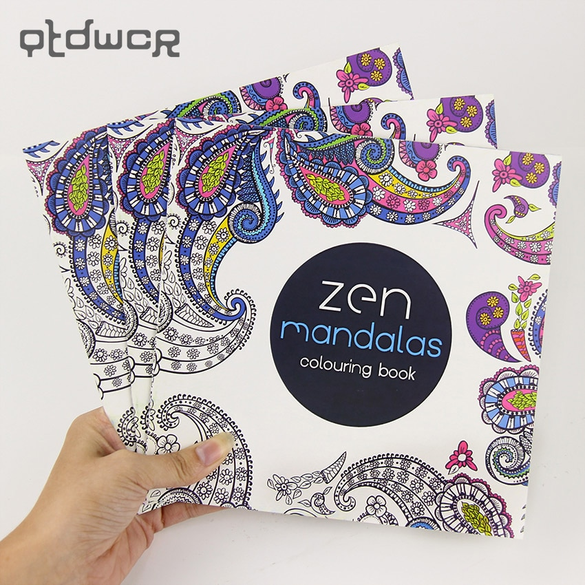 24 Pages New Mandala Flower Black and White DIY Coloring Book Painting Graffiti Book Relieve Stress Leisure Art Book
