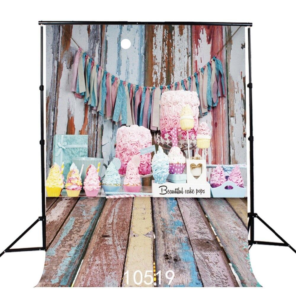 Потертые шикарные деревянные доски день рождения виниловые фоны для фотосъемки детей новорожденных Фото фоны для фотостудии