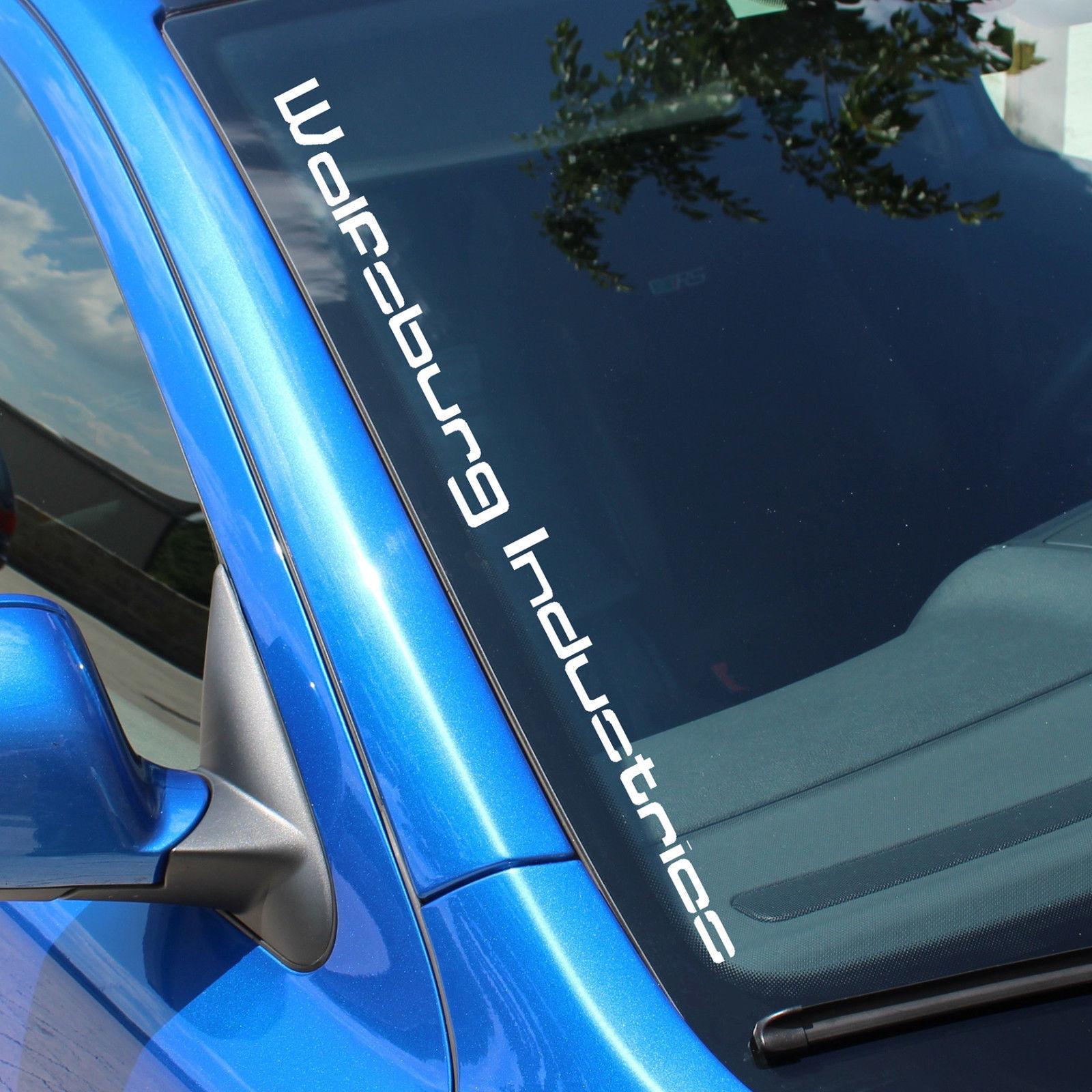 Wolfsburg Industries V2 Windshield Sticker Decal Foil Tuning Car