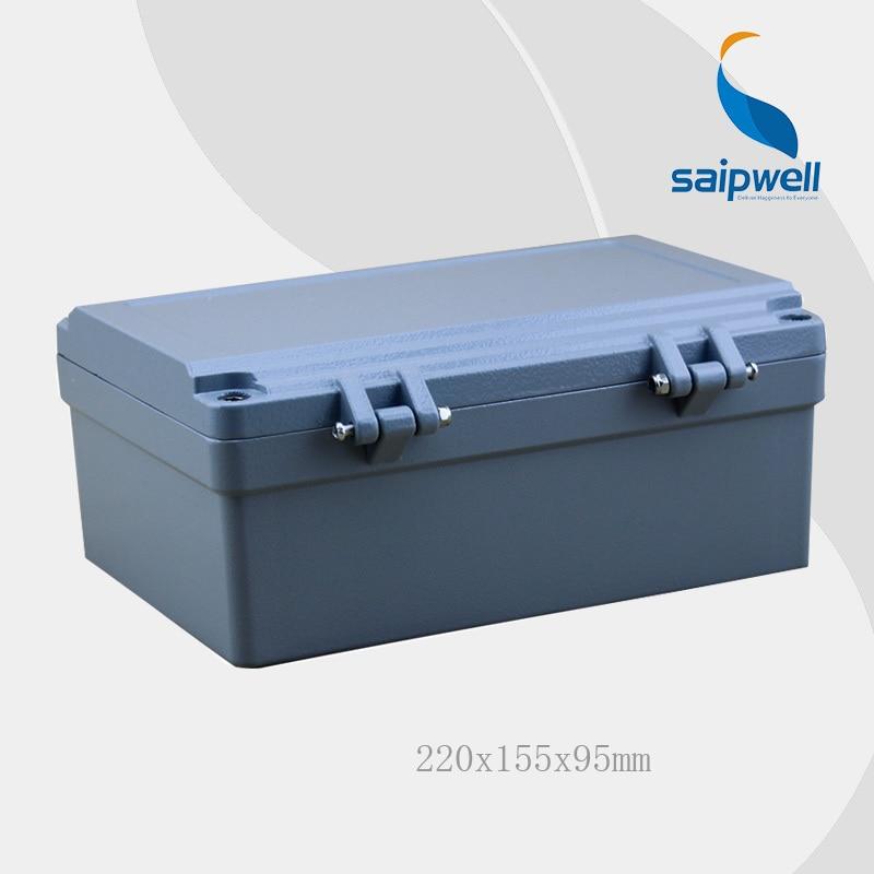 2015 gran oferta Saipwell 220*155*95mm IP67 caja de aluminio impermeable (4 tornillos uds) con SP-AG-FA14 de alta calidad
