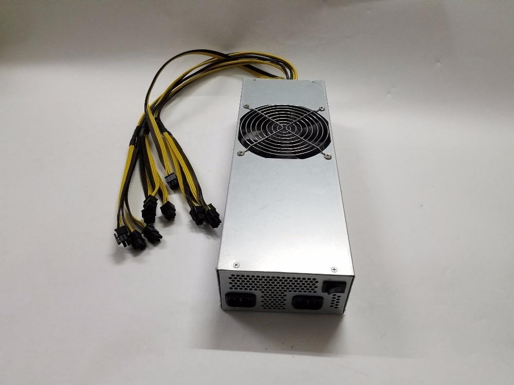 سوبر الطاقة مينر PSU BTC LTC اندفاعة التعدين امدادات الطاقة 110 فولت/220 فولت 2400 واط PSU ل Antminer s7 S9 D3 L3 + t9 + بايكال X10 العملاق-B