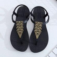 Frauen Tanga Sandalen Sommer Böhmen Flachen Flip-Flops Weibliche Retro Slip Auf Sandalen Flache T-Gebunden Schuhe Mode Damen strand Sandalen