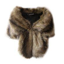 Fausse fourrure manteaux de mariage hiver chaud veste femmes haussement dépaules châle vêtements dextérieur dame Cape vêtements quotidiens