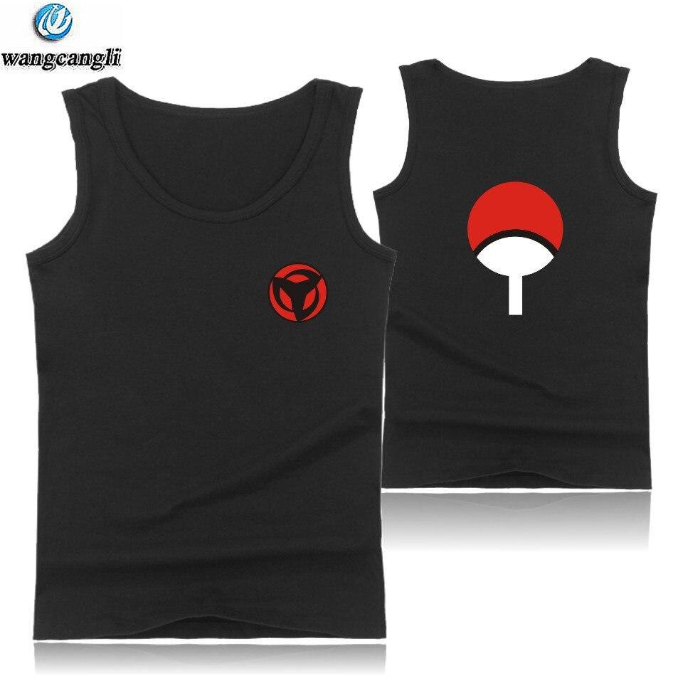 Hokage ninja Camiseta deportiva sin mangas hombres Uchiha Syaringan moda camisetas de culturismo verano chaleco Naruto anime camiseta sin mangas