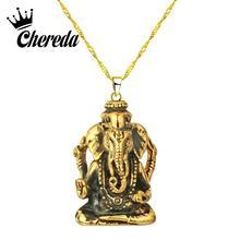 Chereda Biker Elephant God Pendant Necklace Bird Gold Fashion Choker Cute Tortoise Bird Jewelry Collar