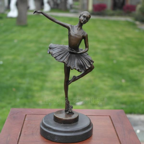 Ballet música danza artesanías escultura cobre decoración del hogar regalos Shanghai arte en bronce mundo