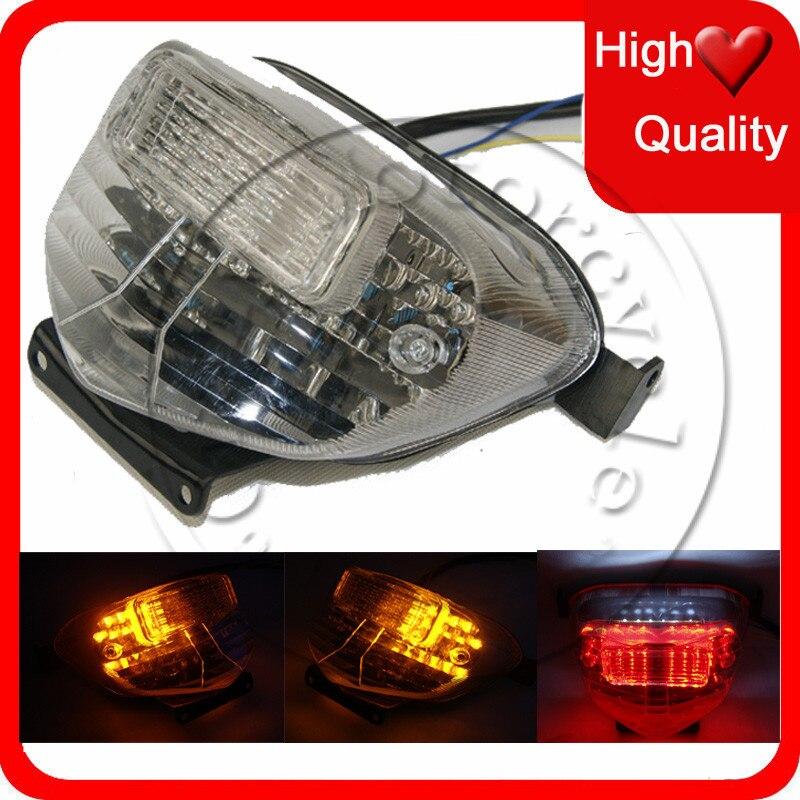 LED de la motocicleta Freno de señal de giro trasera para SUZUKI GSXR 600, 750, 2000-2003 GSXR1000 2001-2002 moto claro luz trasera