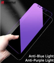 Anti Blauw Paars Licht Gehard Glas Voor Xiao mi rode Mi note 7 6 5 8 pro 5 Plus mi 9T Pro K20 Pro 6A 5A S2 Y2 Y3 Screen Protector