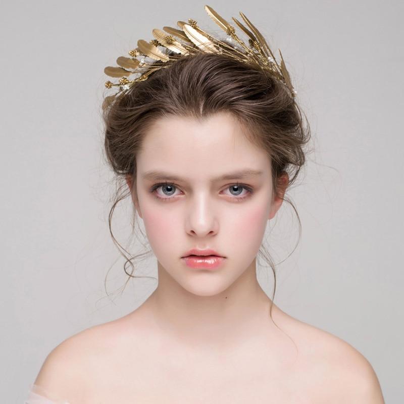 Deja diadema para la cabeza de boda de novia hechos a mano enredadera para el cabello pelo accesorios boda coronas tiaras