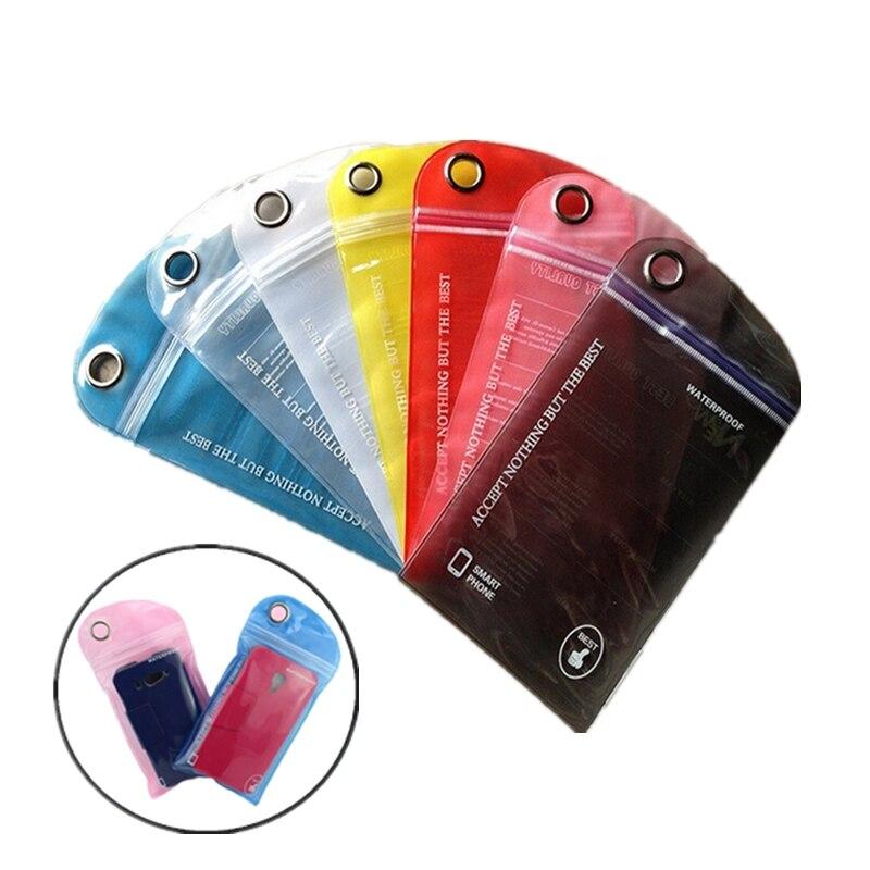 1/5 Uds bolsa natación impermeable surf al aire libre Rafting tarjeta de teléfono Drifting bolsa seca colorida para teléfono móvil Tarjeta de Identificación teléfonos móviles