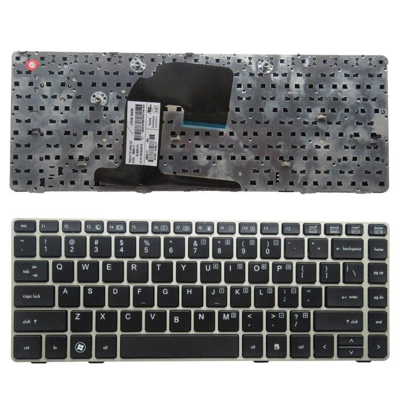 Английская клавиатура для ноутбука HP 8460P 8460W 6460B 6460 8470 8470B 8470P 8470 6470 US с серебристой рамкой