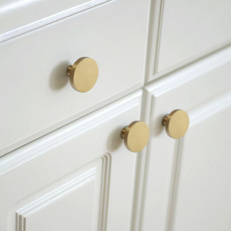 Gold Solid Brass Kitchen Cabinet Knobs Vintage Cupboard Drawer Dresser Furniture Knobs Pulls-4Pack