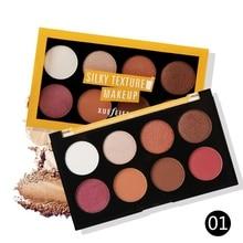 8 Colors Glitter Eyeshadow Palette Full Contour Shadow Paleta De Sombra Maquiagem Completa C2