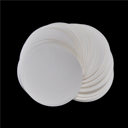 Nowy 100 sztuk/worek laboratorium bibuła filtracyjna średnia prędkość lejek z filtrem papier 7cm okrągły jakościowy bibuła filtracyjna