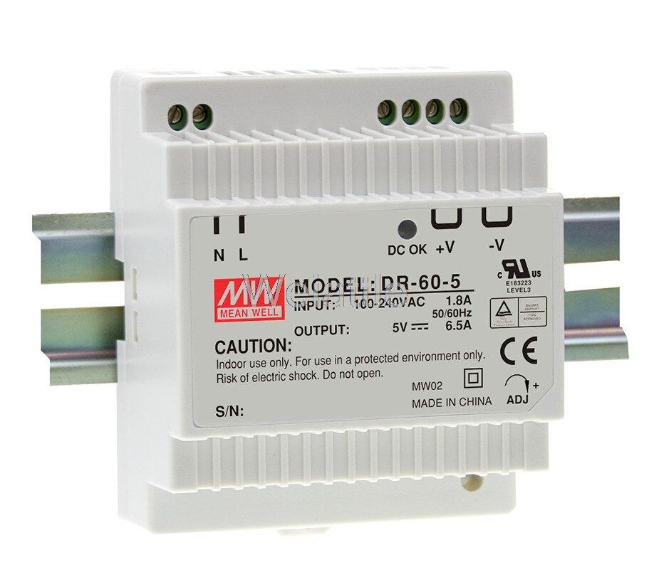 5V 12V 15V 24V significa bien 2.5A 4A 4.5A 6.5A 32,5 W 60W 54W Industrial de alimentación carril DIN DR-60-5 DR-60-12 DR-60-15 el DR.-60 24